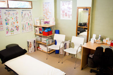 Osteopath treatment room
